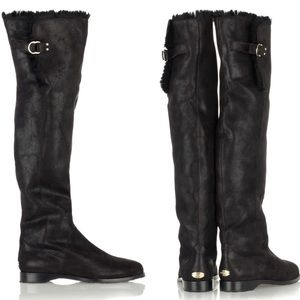 JIMMY CHOO - Fur Lined Knee high Winter Boots, 42
